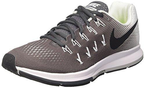 Nike Unisex-Erwachsene Wmns Air Zoom Pegasus 33 Laufschuhe, Gris (Gris (Dark Grey/Black-White)), 44.5 EU (33 Herren Laufschuhe)