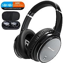 Bluetooth Wireless Kopfhörer Noise Cancelling - Hiearcool L1 HiFi Stereo Drahtlose Headset Over Ear mit Mikro Lautstärkeregler für alle Geräte mit Bluetooth oder 3,5 mm Klinkenstecker