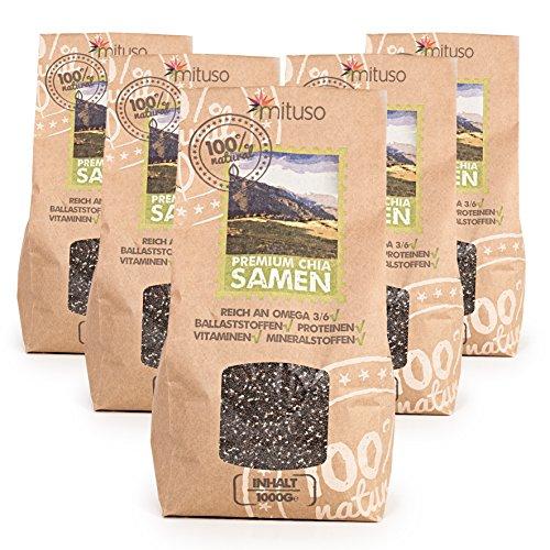 Mituso - Graines de chia, sachet de 5kg - vegan et sans gluten, source d'oméga-3 et d'oméga-6 …