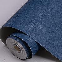 QBTZ Azul Oscuro Fondo de Pantalla Llanura Sala de Estar TV Fondo Papel de Pared Color Sólido Blanco Retro Hotel,Azul de Prusia,5.3 Metros Cuadrados por Rollo