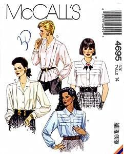 McCall's 4695 Patron de Couture Blouse de bouton avant 14 poitrine Taille 36