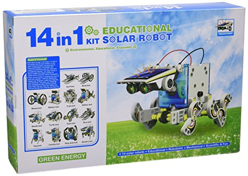 CEBEKIT-C9921 CEBEK Kit Educativo Solar 14 EN 1, Color Amarillo (C9921