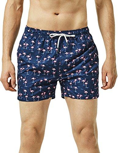 MaaMgic Bañador Hombres Troncos de Natación Secado rápido Interior de Malla Pantalones Cortos Impresos...