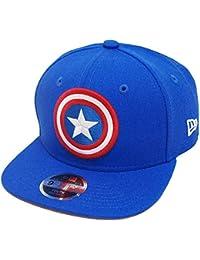 17f863ba6fba4 New Era Captain America 9fifty 950 Azure Scarlet Youth Snapback Cap Kids  Kinder Children Limited Edition
