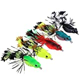 #7: Vodool Tassels Frog Fishing Lures Artificial Swim Bait Claw Hooks Fishing Tackle