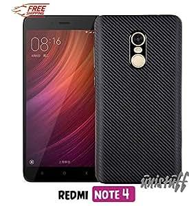 Unistuff™ [Matte Finish] [Rubberised Flexible Shell] [Ultra Thin] Back Case Cover for Xiaomi Redmi Note 4 (Black)