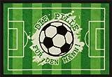 Astra 1640040035 Matte, Türmatte, Fußmatte mit Fußballmotiv 50 x 75 cm, grün