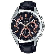 CASIO Herren Analog Quarz Uhr mit Echtes Leder Armband EFV-580L-1AVUEF