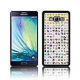 Coque rétro 'Smiley Emojis' pour Samsung GALAXY A7 en polycarbonate rigide