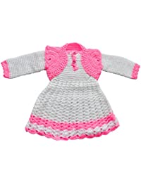 212cef93142 Apna Showroom Designer Baby Girl s Woolen Sweater Skirt Frock Dress (for  18-24 Months