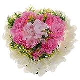 Baoblaze Künstliche Hortensien Blumenkranz Dekokranz für Hochzeitsauto und Grab und Wohnkultur - Rosa