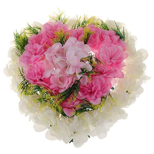 Baoblaze Künstliche Hortensien Blumenkranz Dekokranz für Hochzeitsauto und Grab und Wohnkultur