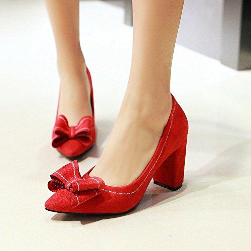 MissSaSa Donna Sottile col Tacco Casual Elegante Rosso
