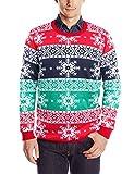 Bunter Schneeflocken Pullover Pärchen