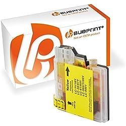 Bubprint Druckerpatrone kompatibel für Brother LC-1100 LC-980 für DCP-145C DCP-195C DCP-375CW DCP-585CW DCP-J715W MFC-490CW MFC-5890CN MFC-6490CW Gelb