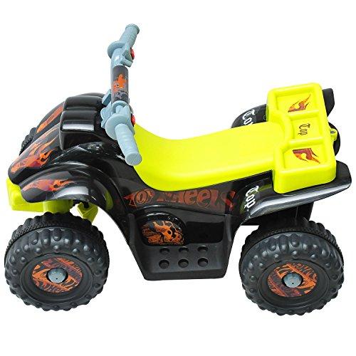 Outsunny - Moto elettrica per bambini - Quad per bimbi - nero e giallo