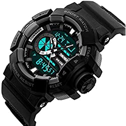 Skmei AD1117 Black Analog-Digital Multicolor Dial Men's Watch.