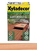 2,5 L Xyladecor Gartenholz-Öl , Allwetterschutz und Pflege für Holzböden, Farbton Rötlich