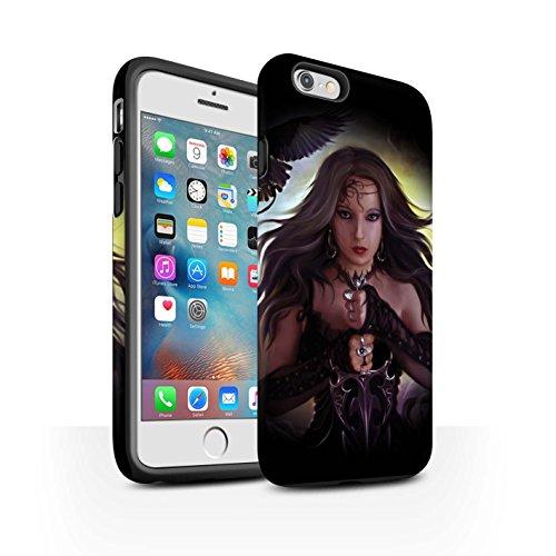 Officiel Elena Dudina Coque / Matte Robuste Antichoc Etui pour Apple iPhone 6S+/Plus / Pack 9pcs Design / Super Héroïne Collection Coeur Noir