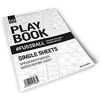 1x1SPORT Playbook # FUSSBALL Single Sheets - Fußballblock - Din-A4