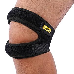 """Knee Strap,Patella Bandage Kniegurt Einstellbare Knieschutz für Laufen, Springen, Basketball, Outdoor Sport oder Knie Schmerzlinderung, 11"""" – 16"""", Schwarz"""