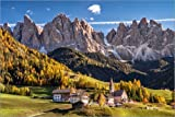 Poster 30 x 20 cm: Villnösstal Südtirol Dolomiten von