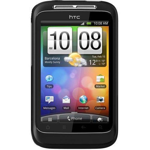 HTC Wildfire S Smartphone (8,1 cm (3,2 Zoll) Display, Touchscreen, 5 Megapixel Kamera) schwarz (Htc S Wildfire)