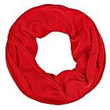 Schlauchschal Uni Damen Frühling/Sommer Damen Tuch Halstuch (rot)