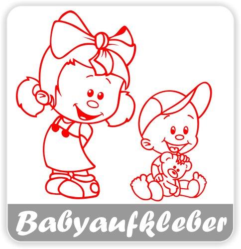 Preisvergleich Produktbild Babyaufkleber, Geschwisteraufkleber für Auto mit Wunschtext (GS-10)