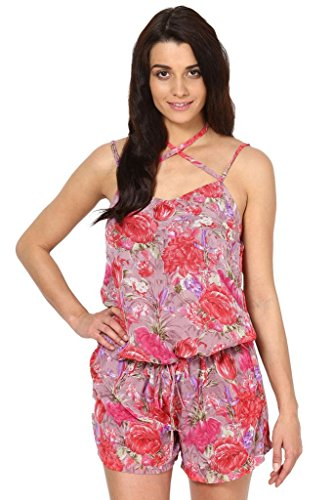 The Vanca Women PEACH DRESS IN POLY GGT PRINT FABRIC  available at amazon for Rs.302