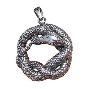 925 Silber Schlange Anhänger Halskette Thailand Schmuck Kunst A7 925 Silver Snake Pendant