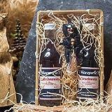 Harzer Wein-Geschenkkorb | Hübscher Geschenkkorb aus Holz mit Schlehenwein, Kirschwein +