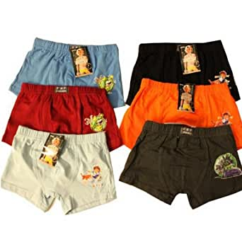 6er Pack Kinder Boxershorts Neu Boxer Shorts Short Unterhose 6er Pack Unterhosen (6 Jahre)