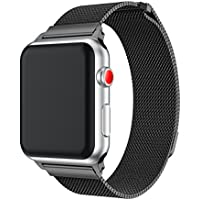 YaYuu Cinturino Apple Watch 38mm/42mm,con Unico Magnete di Blocco, Apple Watch Band Strap Orologio in Acciaio Inossidabile Cinghia Banda Bracciale Milanese per Apple Watch Serie 1 2 3