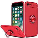 Innens iPhone 8 Case, iPhone 7 Case, [Anti-Scratch] [Shockproof] Slim 360 Degree with Rotation Metal Finger Ring Holder Kickstand Magnet Car Holder Soft Protective Case Cover for Apple iPhone 7/iPhone 8 (4.7 inch) (Red)