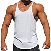 290fb91b884a junkai Herren Gym Weste Racerback Bodybuilding Muskel Stringer Plain Tank  Top Fitness
