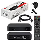 MAG 349w3 / 350w3 original HB-DIGITAL IPTV Set TOP Box mit WLAN (WiFi) integriert (802.11 b/g/n/ac dualband) Multimedia Player Internet TV IP Receiver (HEVC H.256 Support 349 350 ) + HDMI Kabel