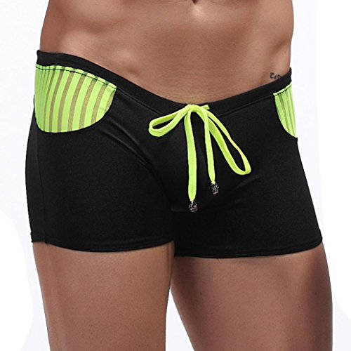 Xmansky Man Schwimmen Tarnung Swim Trunks Mode Low Taille Slips Bademode Sommer Schwarz