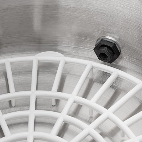 Klarstein Biggie Small Einkochautomat Glühweinautomat Kapazität: 16 Liter 2000 Watt Zapfhahn Edelstahl silber - 2