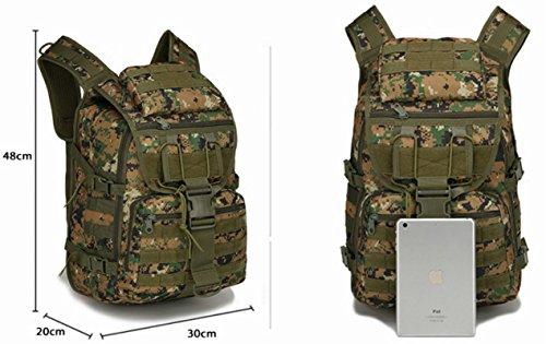 Mcdobexy 40L Zaino tattico Molle zaino per campeggio e trekking,800D Nylon,800D Nylon ACU