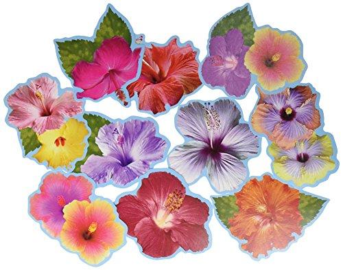 Mini-Hibiskus-Ausschnitte, 10 Stück - Hibiskus-blumen Papier