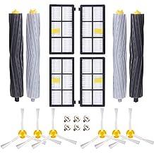 APZOVO Accesorios para Kit iRobot Roomba 800/900Serie 805 850 860 861 870 871 880 886 890 891 895 896 900 960 965 966 980 con 2 Sets de Cepillo de Rulo 4 ...