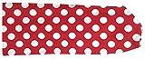 Wollhuhn ÖKO Süßes elastisches TWIST Haarband/Stirnband, gedreht, ROCKABILLY Punkte rot/weiß (aus Öko-Stoffen, bio) für Mädchen/Damen, 20180527
