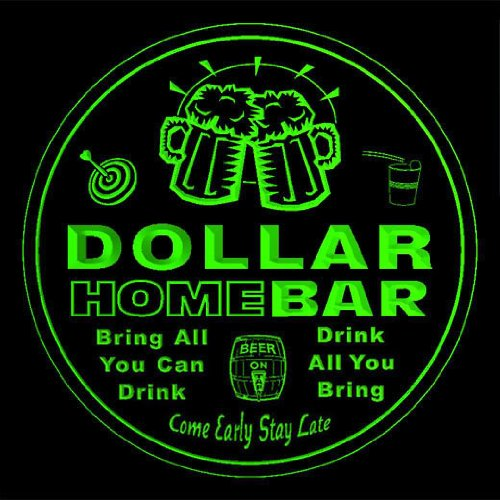 4x-ccq11860-g-dollar-family-name-home-bar-pub-beer-club-gift-3d-coasters