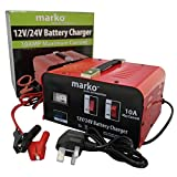 10AMP 12V/24V Heavy Duty Vehicle Battery Charger Car Van Truck Lorry Electrical