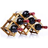 MOTONG Wooden Rack Wine - Red Wine Holde...