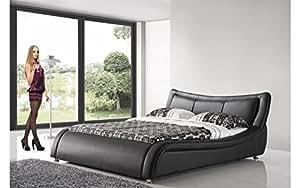 Lit design 160x200 model SATURNE(noir)
