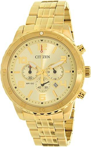 51ielINhnYL - Citizen AN8132 58P Chronograph Gold Mens watch