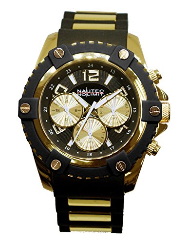 Nautec No Limit Men's Watch Glacier 2 Analogue Quartz Rubber GLAC2 QZ Rbgd cm black
