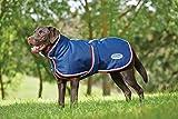 Weatherbeeta Parka1200D 220g Couverture à rabat ventral pour chien –Bleu marine/Rouge/Blanc